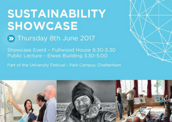 Sustainability showcase - advert for showcase event 2017