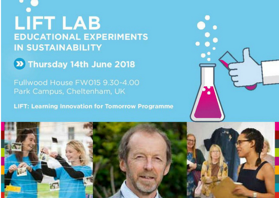 Lift Lab - advert for educational experiments in sustainability