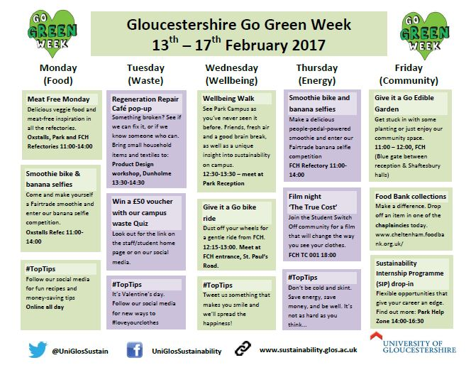 Thanks for joining Go Green Week