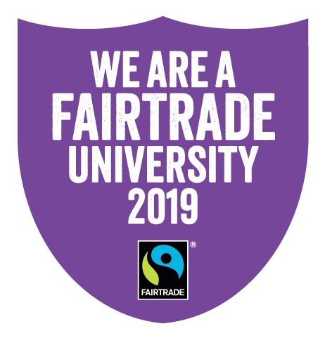 We are a Fairtrade University 2019 logo