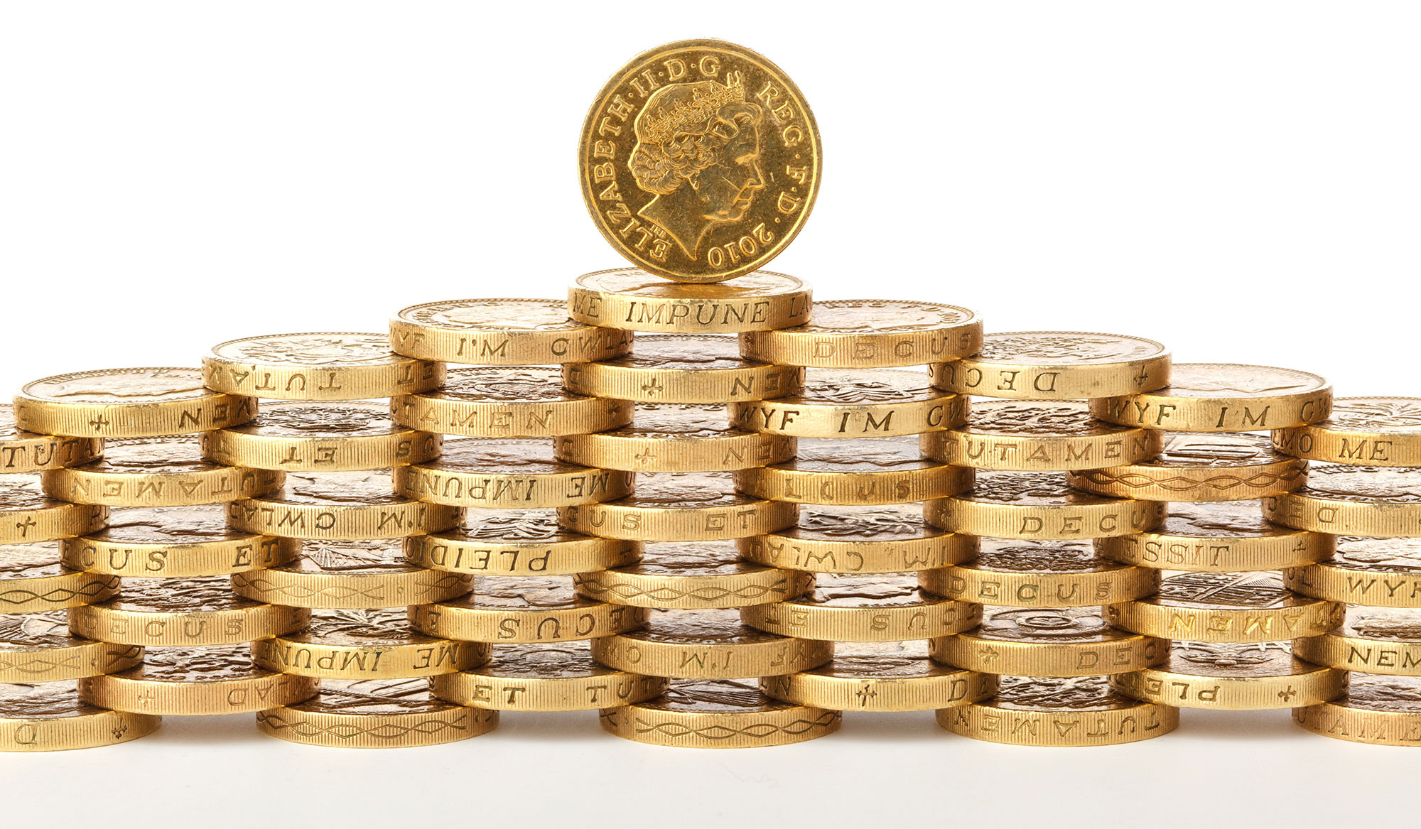 Imaeg of Sterling pound coins to indicate taking fund management seriously