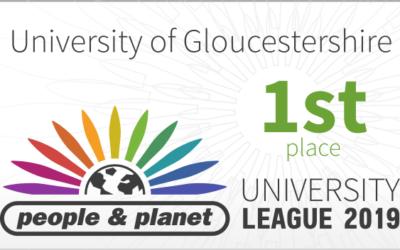 University Tops the UK Sustainability League!