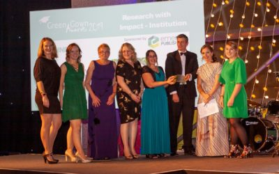 University celebrates sustainability research win at the Green Gown Awards 2019