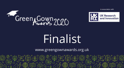 University shortlisted for 3 entries to the UK Green Gown Awards 2020
