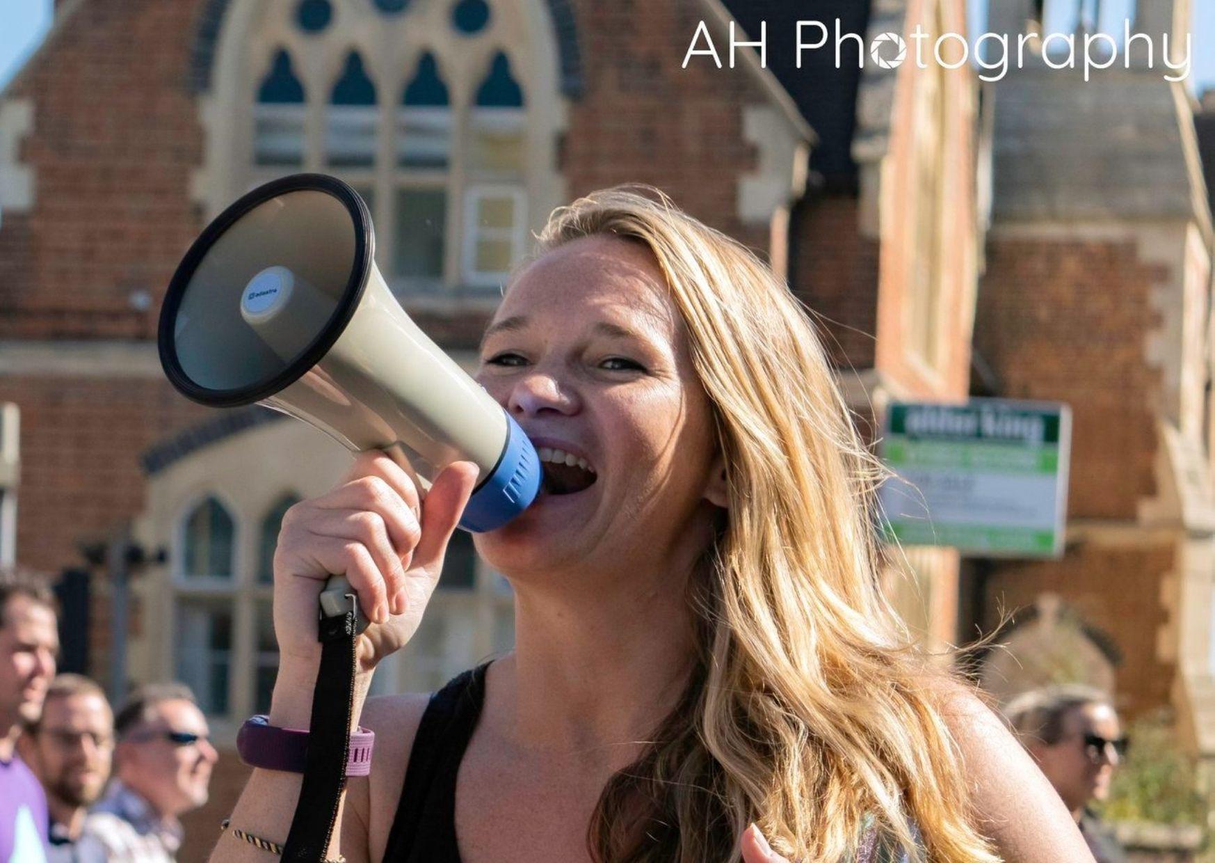 Green Team president leads Cheltenham Climate Strike